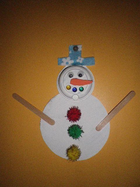 bonhomme de neige avec capsule